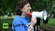 USA: SHELL NO! Climate-change activists mob White House over Arctic exploration