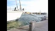 Пристанището В Трогир - Хърватска