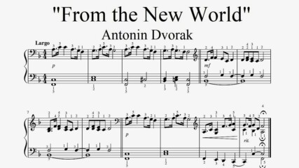 """Antonin Dvorak - From the New World"" - Piano sheet music (by Tatiana Hyusein)"