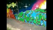 Hope centre Pensby Youth group mural with Pioneer People and Zap Graffiti Arts