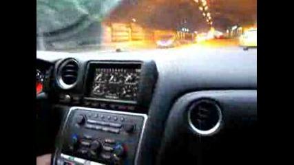 Nissan Gtr custom exhaust Plovdiv tunnel part 1