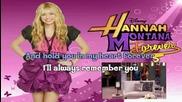 Hannah Montana Forever Ill always remember you karaoke