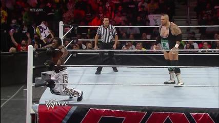 R-truth vs. Brodus Clay- Raw, Dec. 30, 2013