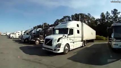 Разходка из кабината на един американски камион