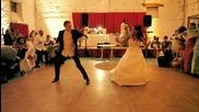Най-невероятният първи сватбен танц (видео)