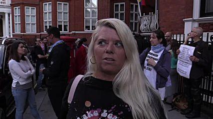 UK: Vigil held at Ecuadorian embassy on Assange asylum anniversary