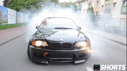 Агресивен дрифт с Bmw M3 E46 в града! Hd www.streetcustomsbg.at.ua
