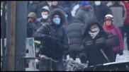 Полицаите горят от коктейли Молотов(протест в Украйна)