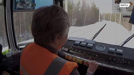Take a ride on Siberia's 'rocket' tram