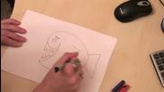 Как да нарисуваме рибка за 1 минута