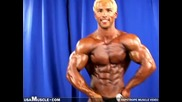 Bodybuilder Benjie Greaves poses