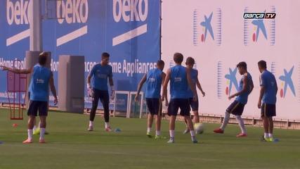 Fc Barcelona тренировката на 17.07.2015