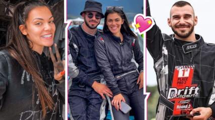 Любов на скорост: Дрифтърката Кристалина показа гаджето си - и той е автомобилен шампион