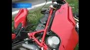 Ужасна катастрофа с моторист - при скорост от 250 километра