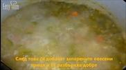 Здравословна картофена крем супа с копър и овесени трици