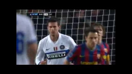 Champions League Barcelona 2 - 0 Inter Highlights
