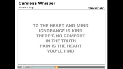 George Michael - Careless Whisper Karaoke