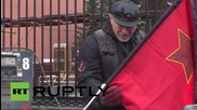 Russia: 'Night Wolves' leader picks up Moscow's 'Eternal Flame' for Berlin journey