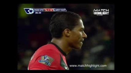 Aтака и гол нa Рууни 23.02 Манчестър Юнайтед 3:0 Уест Хам