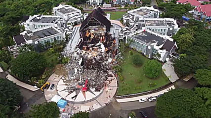 Indonesia: Drone footage reveals buildings destroyed by Sulawesi earthquakes