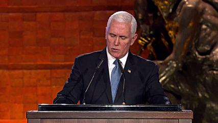 Israel: Pence invokes Trump, attacks Iran at World Holocaust Forum speech