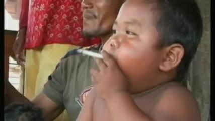 Мазно циганче на 18 месеца пуши 40 цигари на ден