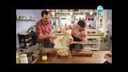 Десерт с лимон и чай, пилешки бутчета на фурна, салата от моркови - Бон Апети (05.04.2013)