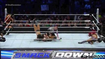 Charlotte & Becky Lynch vs. Naomi & Sasha Banks:wwe Smackdown/ Разбиване 06 Август 2015