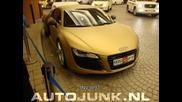 !!! Златно Audi R8 снимано в Дубай