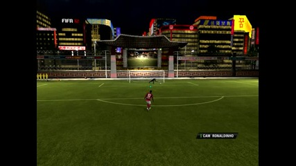 Fifa 12 !! Пряк свободен удар с Роналдиньо