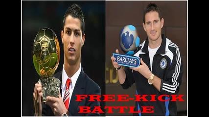Ronaldo vs. Lampard ! Free-kick Battle