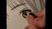 Как да нарисуваме Манга очи