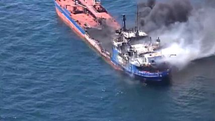 Turkmenistan: One killed as Russian tanker catches fire in Caspian Sea
