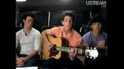 Jonas Brothers Live Chat - Nick Jonas Singing Catch Me - 8 22 2009