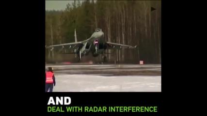Су-35 изтрелва ракета въздух въздух