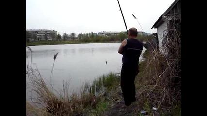 Котето му открадна улова