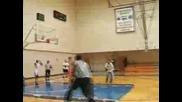 Dwight Howard Stunts For Slam Dunk Contest