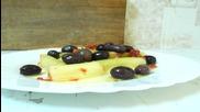 Салата с праз и маслини