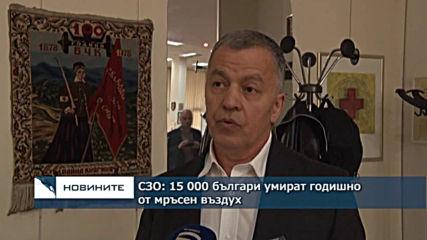 СЗО: 15 000 българи умират годишно от мръсен въздух