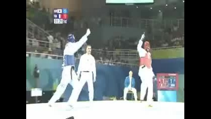 Hwang Kyung - Seon and Cha Dong - Taekwondo Звездите на Корея