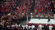 raw 9th june, 2014 the shield and john cena vs wyatt family part one-