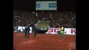 Великите фенове на Ц С К А по време на мача с Рома
