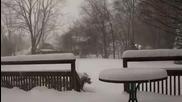 Завладяващ интервал във времето показва постепенно образуване на сняг
