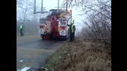 Пътна помощ Автокомплекс Димитров катастрофирал холандски камион на хлъзгав участък 23.12.2013