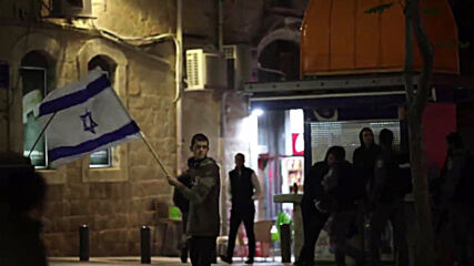 East Jerusalem: 'Death to Arabs' - Right-wing protesters march outside Old City