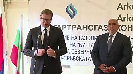Bulgaria: PM Borisov and Serbian Pres. Vucic inspect construction of Balkan Stream pipeline