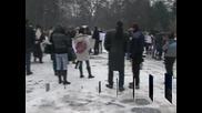 Непушачи протестираха срещу отпадането на забраната за тотална забрана за тютюнопушенето