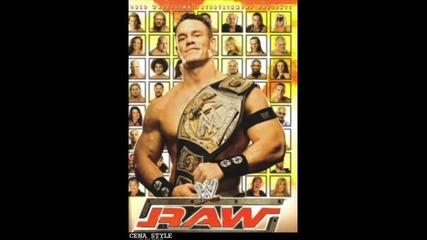 Jonh Cena end Wwe Raw