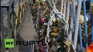 France: Almost a million 'love locks' removed from Ponts-des-Arts Bridge