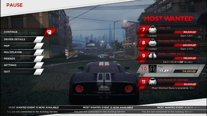 Ford Gt Пукане на гуми (need For Speed Most Wanted)